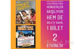 Kats Sahne'de Her Salı Tek Perdelik Paket Servis Tiyatro Oyun Bileti (Konser Bileti Hediye)