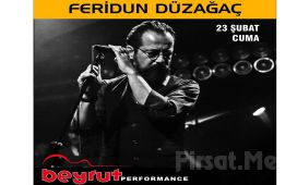 Beyrut Performance Kartal Sahne'de 23 Şubat'ta Feridun Düzağaç Konseri Giriş Bileti