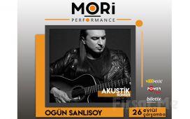 Mori Performance'ta 26 Eylül'de Ogün Sanlısoy Akustik Konser Bileti