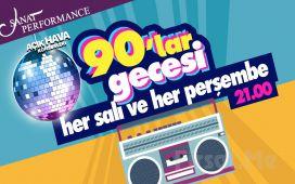 Beyoğlu Sanat Performance'ta Her Salı ve Perşembe 90'lar Gecesi Konser Bileti