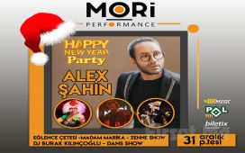 2019 Yılbaşı'nda Mori Performance'ta Alex Şahin Happy New Year Party Bileti