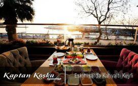 Eskihisar Kahve Deryası Kaptan Köşkü'nde Zengin Açık Büfe ve Serpme Kahvaltı Keyfi