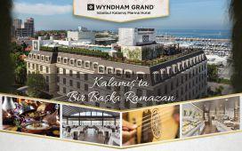 Wyndham Grand İstanbul Kalamış Marina Otel'de Fasıl Eşliğinde Geleneksel Açık Büfe İftar Sofrası