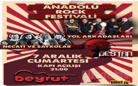 Beyrut Performance Kartal Sahne'de 7 Aralık'ta 'Anadolu Rock Fest - Necati ve Saykolar & Yol Arkadaşları & Destan' Bileti