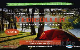 Miki Tur'dan 2 Gün 1 Gece Kahvaltı ve Akşam Yemeği Dahil 'Yedigöller Çadır Kampı' Turu