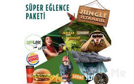 İsfanbul AVM Jungle İstanbul ve Zippline Bilet Seçenekleri